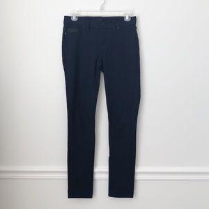 "Calvin Klein Navy Blue Jeggings Leather ""Pocket"""